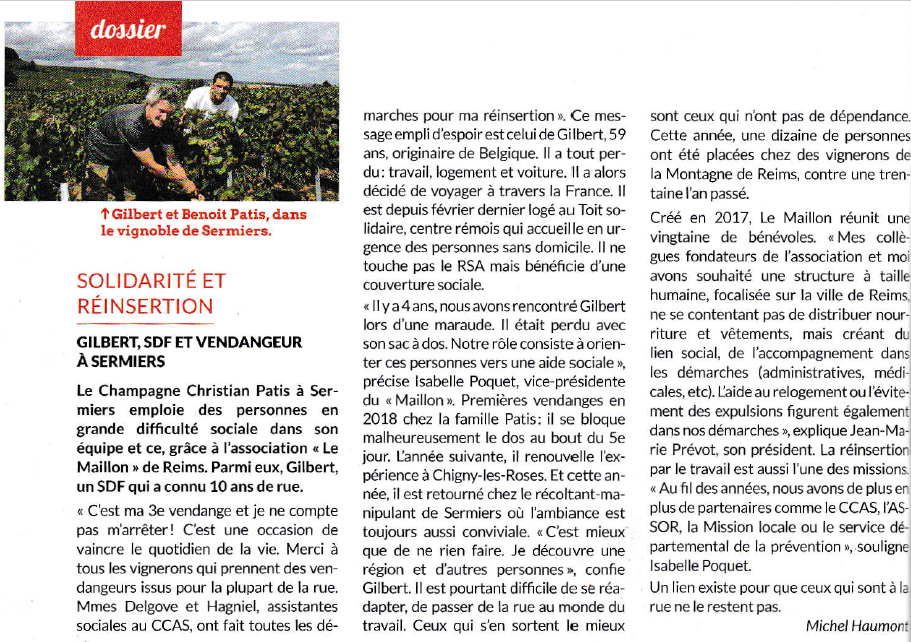 Champagne Christian Patis Dossier