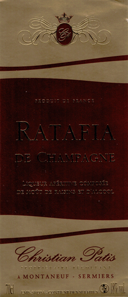 Champagne Christian Patis Ratafia